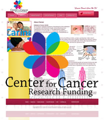 Website Snapshot - Cancer For Cancer Research Funding