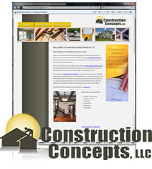 Website Snapshot - Construction Concepts CT