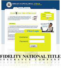 Website Snapshot - Fidelity National Title Insurance Company